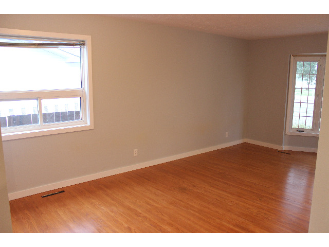 """Dining room off """"L"""" shaped living/dining room. Huge space, with plenty of natural light."""